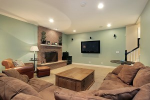 warm inviting basement